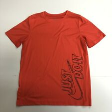 Nike Dri Fit T Shirt Mens Size Xl Red Black Just Do It Short Sleeves