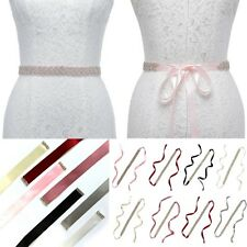 Rhinestone Mosaic Bridal Wedding Sash Dress Waist Belt Diamante Ribbon Waistband