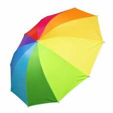 Mini Regenschirm regenbogenfarben bunt zusammenfaltbar praktisch Taschengröße