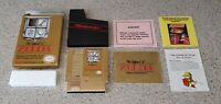 The Legend of Zelda Nintendo NES Gold Complete CIB Box Manual Black Star Code !!