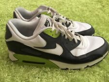 Men Nike Air Max 90 Leather Az 14 Black White Neon Green AM Running Shoes