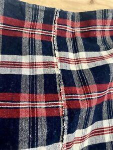 Antique rare LARGE unused French DUVET COVER linen cotton mix KELSH c1920