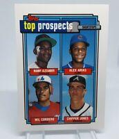 1992 Topps Gold Top Prospects #551 RC Chipper Jones Braves