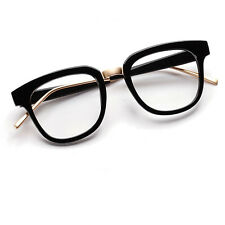 Unisex Fashion Retro Spectacles Eyeglasses Black Frame Eyewear Full Rim
