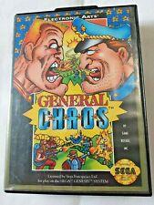 Video Game Case Only General Chaos Electronic Arts Sega Genesis Original Vintage