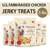 USA Farm Raised Chicken Jerky Treats For Dog All Natural  5 lbs