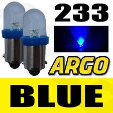 233 1 LED AZUL TRASERO BOMBILLAS BA9S TW4 PIAGGIO-VESPA Ciao 50L (c7e1t)
