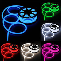 LED Flex Neon Rope Light Room Party Commercial Sign Lighting Strip Outdoor 110V