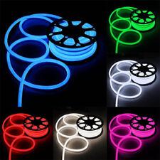 100FT LED Flexible Neon Rope Light Room Party Commercial Lighting Strip 110V