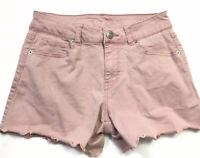 RUE 21 Woman's Rose Pink Cut Off Jean Denim Shorts Size 2