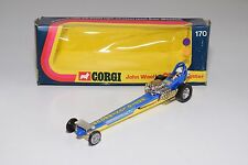 \ CORGI TOYS 170 JOHN WOOLFE DRAGSTER BLUE YELLOW MINT BOXED