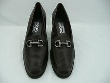 Salvatore Ferragamo Brown Leather Gancini Bit Loafers Shoes Sz 11 B