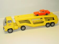 Vintage Tonka Cab Over Car Carrier Semi Truck, Pressed Steel + Car
