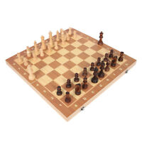 4 Size Magnetic Folding Chessboard Chess Board Set Portable Wooden Game @