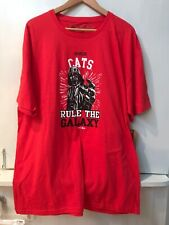 Star Wars Darth Vader River Cats Rule The Galaxy  Mens T Shirt Red XL NWT