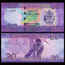 Salomonen / Solomon Islands 20 Dollars, ND(2017), P-NEW, A/1 serial, UNC