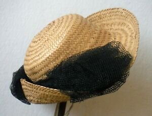 Antique Large Fancy Doll Straw Hat P1817