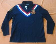 NWT POLO RALPH LAUREN SNOW POLO CHALLENGE CUP FLEECE LINED RUGBY  SHIRT SIZE L