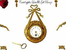 18th French Ormolu Bronze Cartel Wall Clock Neoclassical