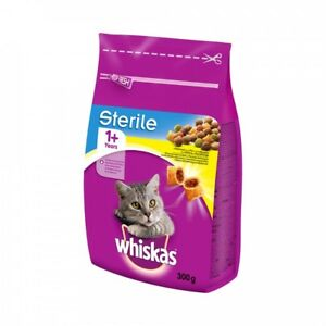 WHISKAS STERILE Cat Kitty Dry Food for Neutered Cats 300g 10.5oz