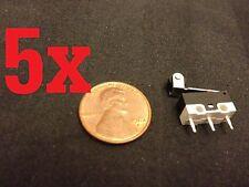 5 Piece Micro Limit Switch Lever KW10-Z4P n/c n/o arm ac dc roller B12