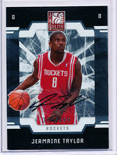 2009-10 DONRUSS ELITE #189 JERMAINE TAYLOR RC AUTOGRAPH 361/499 - ROCKETS