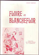 Floire et Blancheflore Poésie Cathare Chevaliers du Graal Auteur anonyme