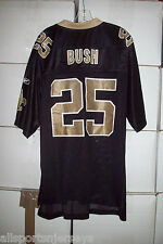 NEW NFL NEW ORLEANS SAINTS BUSH #25 HOME REEBOK JERSEY GOLD COLLAR ADULT 2XL