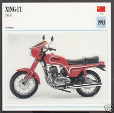1993 Xing-Fu 250cc E XF250-E China Bike Motorcycle Photo Spec Info Stat Card