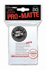 100 Ultra Pro Deck Protector Card Sleeves Pro Matte White Standard Magic Pokemon