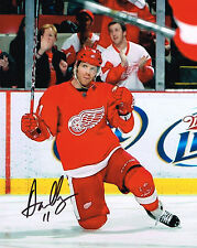 DAN CLEARY signed DETROIT RED WINGS 8X10 photo w/ COA
