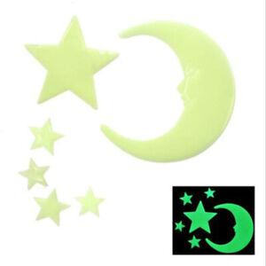 Luminous Wall Sticker 3D Star Fluorescent Decal Glow In The Dark For Kid Room YO