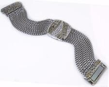 Crystal Multi Chain Bracelet Silver Gold 18KGP Magnetic Designer Pebble Luxury