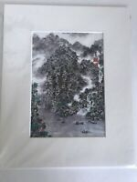 """Giclee Print of Oriental Watercolor On Rice Paper by Sang Man Kim. 8"""" x 10"""""""