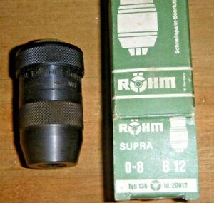 Schnellspann-Bohrfutter Röhm Supra 0 - 8mm B12