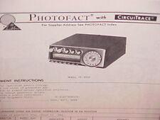 1977 PIONEER CAR 8-TRACK STEREO TAPE PLAYER/AM-FM SERVICE MANUAL MODEL TP-900E