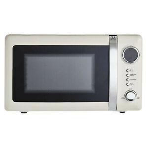 ColourPlay Cream 20L Steel Microwave Oven 800W Kitchen Worktop Digital Timer
