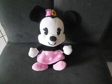 Doudou peluche Minnie grosse tête robe rose CUTIES GIPSY DISNEY 19cm