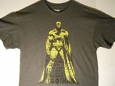 Batman Verbiage T-shirt Men's Xl(46/48)Dc Comics,Dark Knight,Justice League New