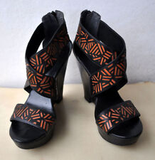 Leather Geometric Shoes for Women