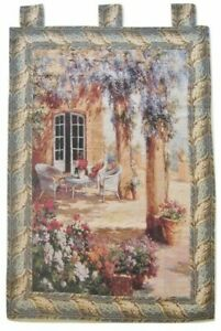 Nature Floral Country Rustic Garden Outdoor Scenery Woven Tapestry Wall Hanging