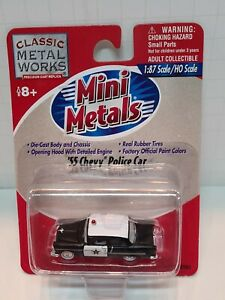 HO SCALE MINI METALS - '55 CHEVROLET POLICE CAR - ITEM #30153