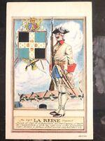 Mint USA PPC Picture Postcard La Reine Regiment 7 Years War Guard Uniforms