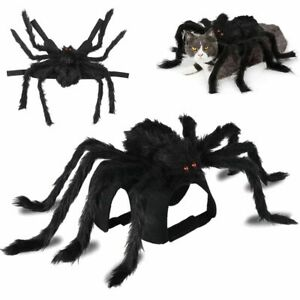Halloween Spider Pet Costume Cosplay Clothes for Cat Dog Puppy Kitten S M L