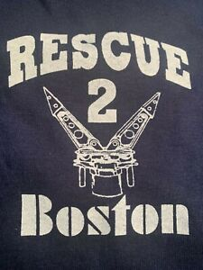 Boston Fire Dept Rescue 2 Hoodie 2XL XXL 2X-Large