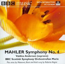 MAHLER - SYMPHONY No 4 / BBC SCOTTISH SO / ION MARIN; VALDINE ANDERSON - BBC CD