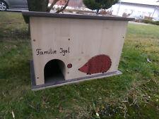 Kinder Bausatz Igelhaus Igelhütte Igelhotel Siebdruck Pappe Überwintern Aufzucht