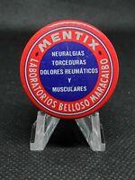 Vintage Medicine Tin: Mentix, Venezuelan tin, Lab from Maracaibo, rare, full