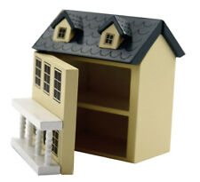 DOLLS HOUSE 1/12TH SCALE  PAINTED WOODEN TOY DOLLS HOUSE