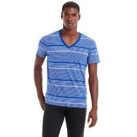 New Armani Exchange Muscle Slim Muscle Fit Striped V-Neck Shirt h6m700vn